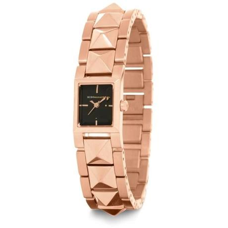 ugly sucks bad customer service defective hate BCBG pyramid studded watch $195 must have trend fashion blog covet her closet deal promo code