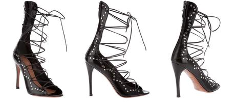 The object of my affection - Alaïa lace-up sandals