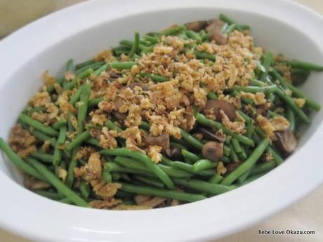 Green Beans and Mushrooms