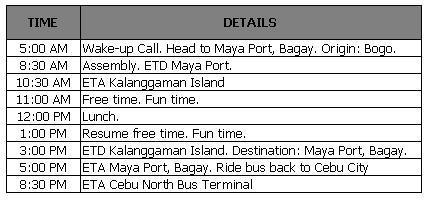 Whacky Notes: Getting to Kalanggaman Island