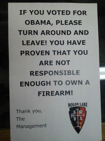 Arizona Gun Store Owner Cope Reynolds Tells Obama Voters Turn Around and Leave