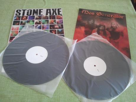 Charity Auction for Superstorm Sandy Relief, Package Deal for Both STONE AXE and MOS GENERATOR LP Test Pressings
