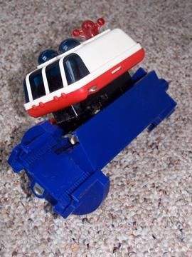 1970s Grippity Gravity toy - space transport vehicle