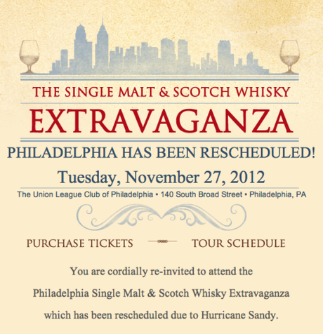 Booze News Flash: The 2012 Philly Single Malt & Scotch Whisky Extravaganza Date + A Discount Code!
