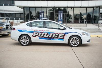 Unique Dodge Dart Police Car Escorts Belvidere Assembly Plant Employees to Area Food Pantry