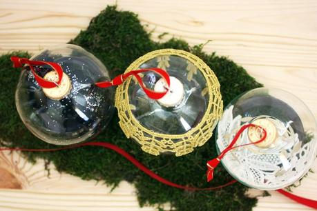 DIY lace ornaments