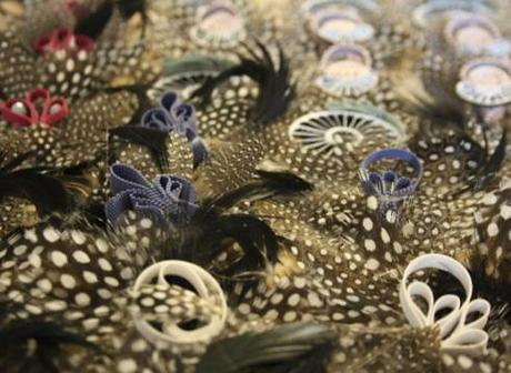 Hand Made Feather Brooches