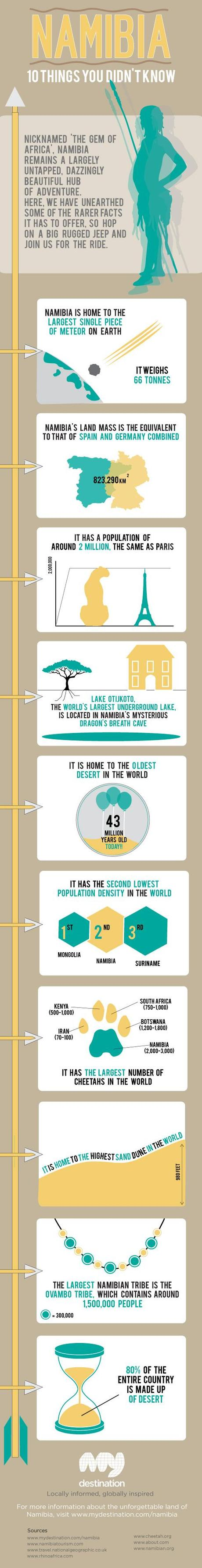 Interesting Facts About Namibia Infographic