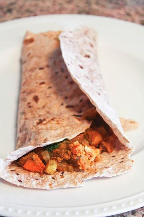 "Vegetarian ""Dosas"" with Curried Chickpeas and Mint Chutney"