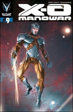 X-O Manowar #9 Cover - Clayton Crain Variant
