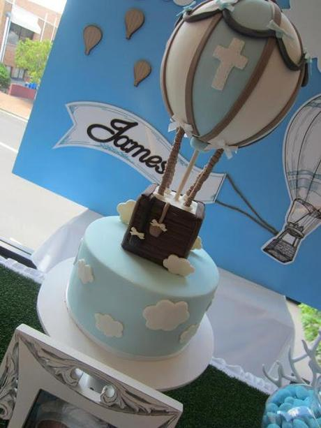 Hot Air Balloon Christening Styled by Cakes by
