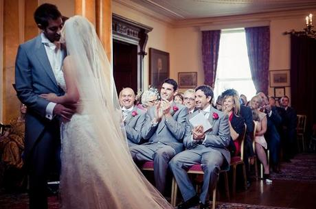 front pew walcot hall wedding