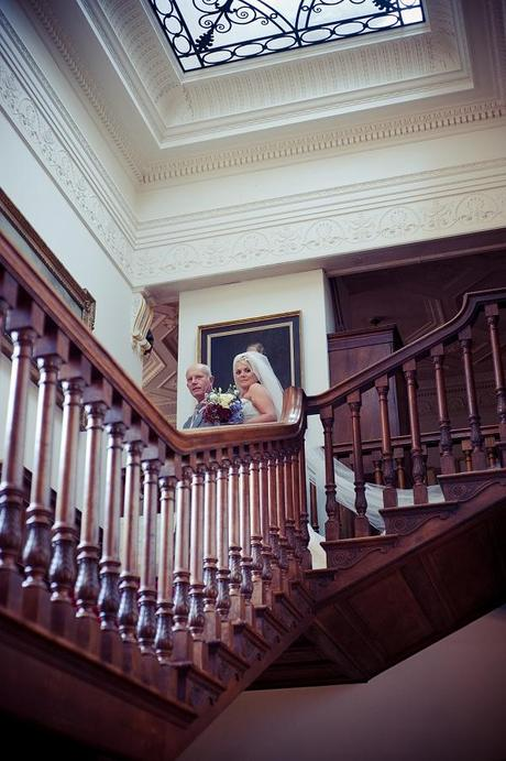 walcot hall wedding staircase