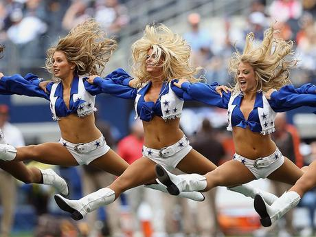 Dallas Cowboys Cheerleaders Jumping for Thanksgiving Joy