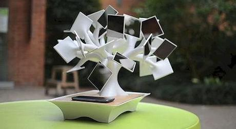 The Electree+, A Solar-Powered, Induction Charging Bonsai Tree