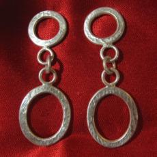 textured wire earrings