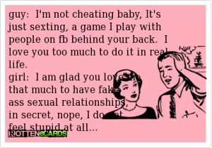 "There Is No Universal Definition Of ""Cheating"""