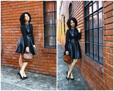 Leather Dress & Bejeweled Collars