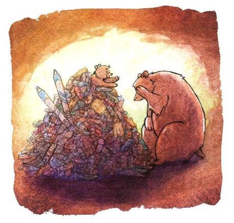 Bear in Shoe Pile