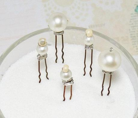 New @FancieStrands - Beaded Hairpins