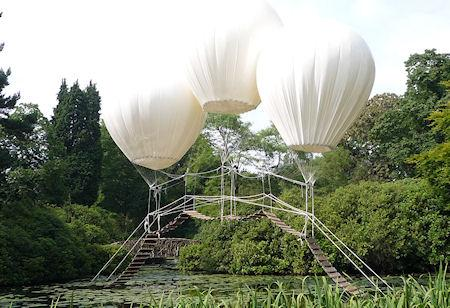 Magical Bridge Suspended By Three Giant Balloons