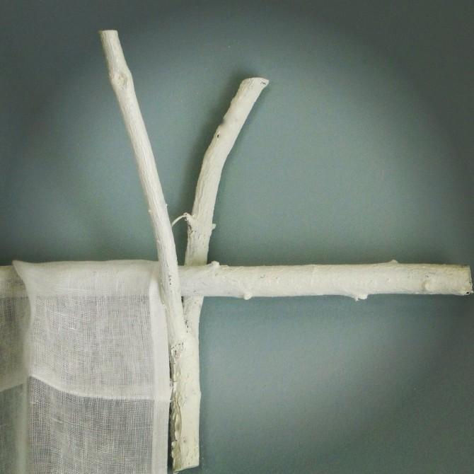 twig curtain rod, how to, tutorial