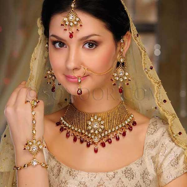 Bridal Jewelry Latest Gold Sets Designs 2013 by Sonoor Jewels an