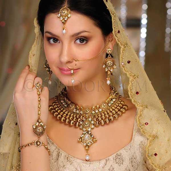 Bridal Jewelry Latest Gold Sets Designs 2013 By Sonoor