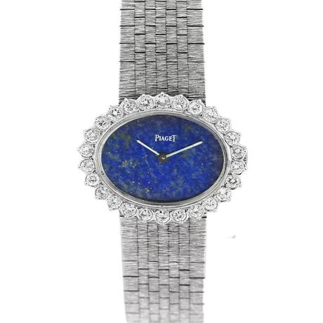 Piaget 18K White Gold, Diamond, and Lapis Dial Watch