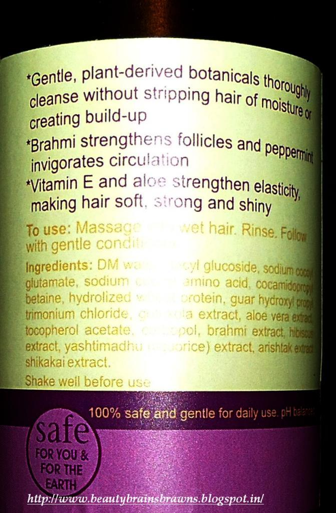 Omved Brahmi and Peppermint Purifying Shampoo Review