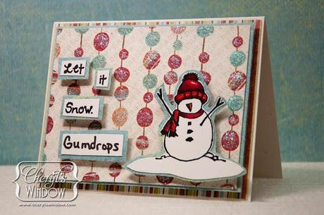 """Susan K Weckesser and Unity Stamp Co Blog Hop – Easy Christmas Card – """"Let it Snow Gumdrops"""""""