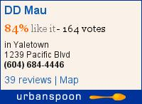 DD Mau on Urbanspoon
