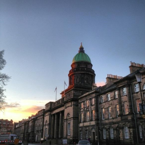 West Register House in the sunrise