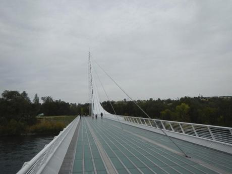 Sundial Bridge over the sacramento River Turtle Bay Redding CA