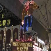 Cowboy on Freemont Street Las Vegas Nevada