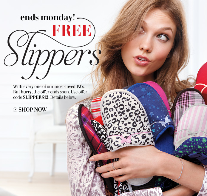 Victoria\'s Secret Free Slippers with Purchase - Paperblog