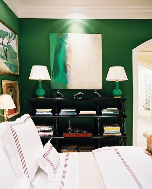 MIles Redd emerald green bedroom