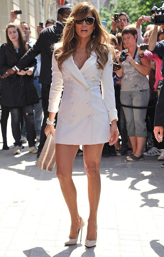J Lo in White Stilettos