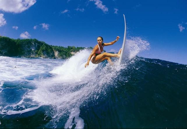Surfing in Island of Bali