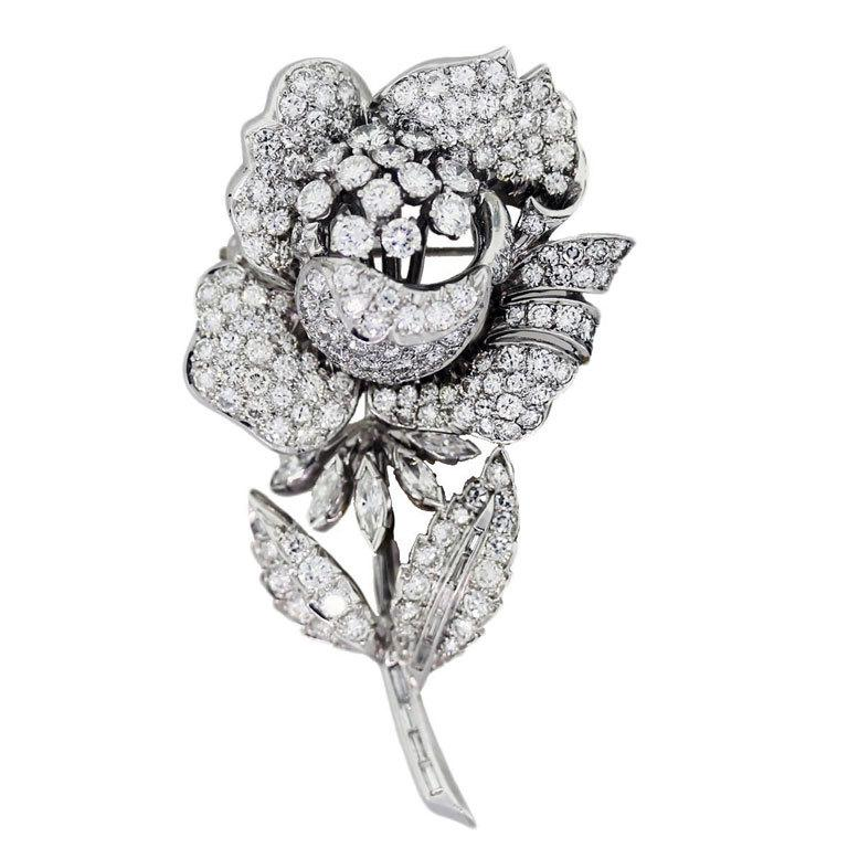 Diamond Rose Flower Pin, will and kate pregnant, royal baby, kate middleton pregnant