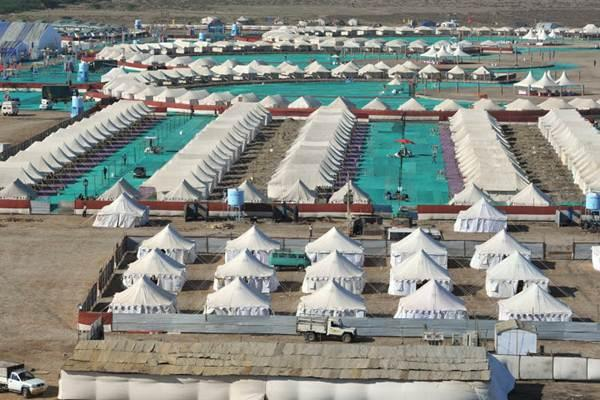 View of Tented Accommodation at Rann Utsav
