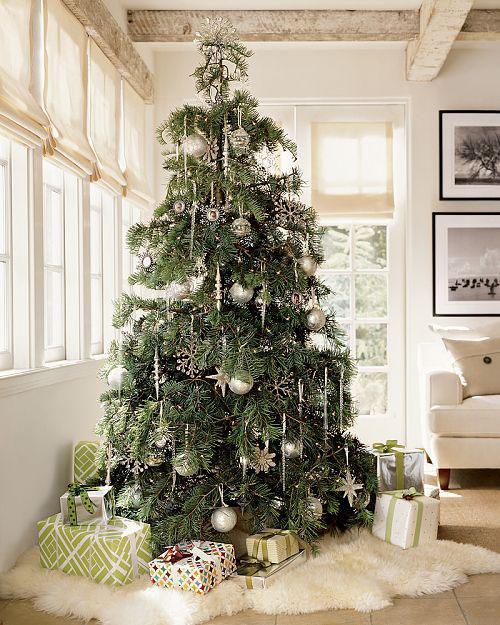 decor christmas tree idea1 christmas tree decorating ideas homespirations - Christmas Tree Skirt Ideas