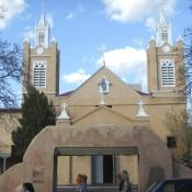 San Felipe Church in the town square of Old Town Albuquerque New Mexico