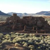 Ruins of the Wupatki Pueblo in Wupatki National Monument Arizona