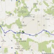 Road Trip Route from Las Vegas Flagstaff AZ Albuquerque NM