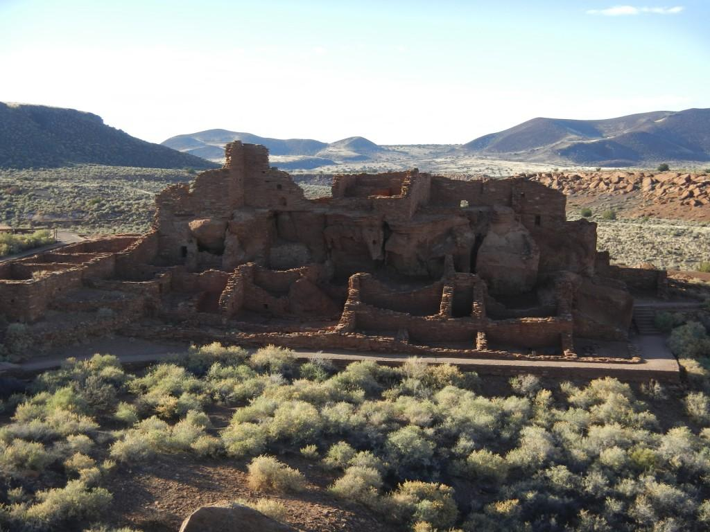 Ruins of the Wupatki Pueblo in Wupatki National Monument Arizona