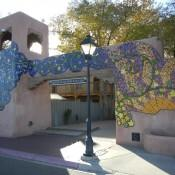 Mural in Old Town Albuquerque New Mexico