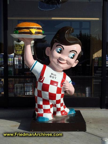 Evolution of Bobs Big boy logo and collectables