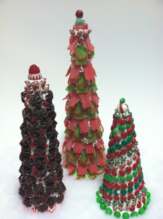 Christmas diy candy topiary trees paper