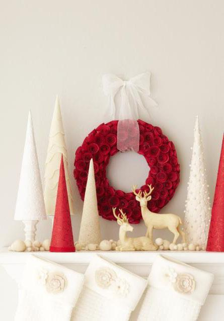 decor red and white christmas4 Decorate for Christmas with Red and White HomeSpirations